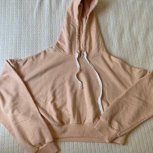 Forever 21 Crop Hoodie Sweatshirt Sz L